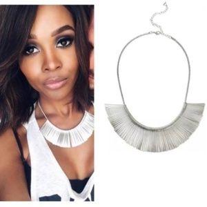 Stella & Dot Essential Fringe Necklace Silver